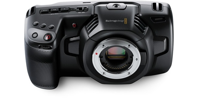 Blackmagic Pocket Cinema Camera 4k - вид спереди