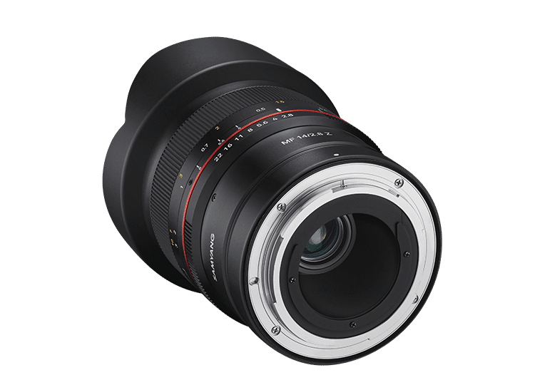 Объектив Samyang MF 14mm F2.8 Z - вид сзади