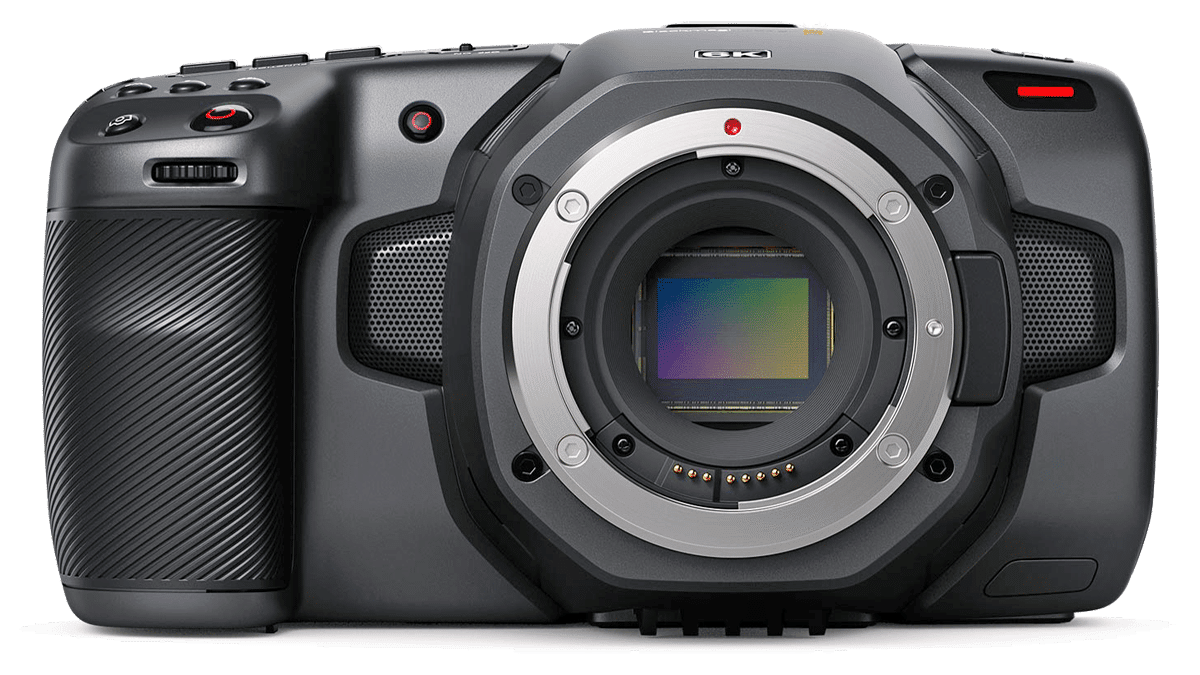 Видеокамера Blackmagic Pocket Cinema Camera 6K - вид спереди png