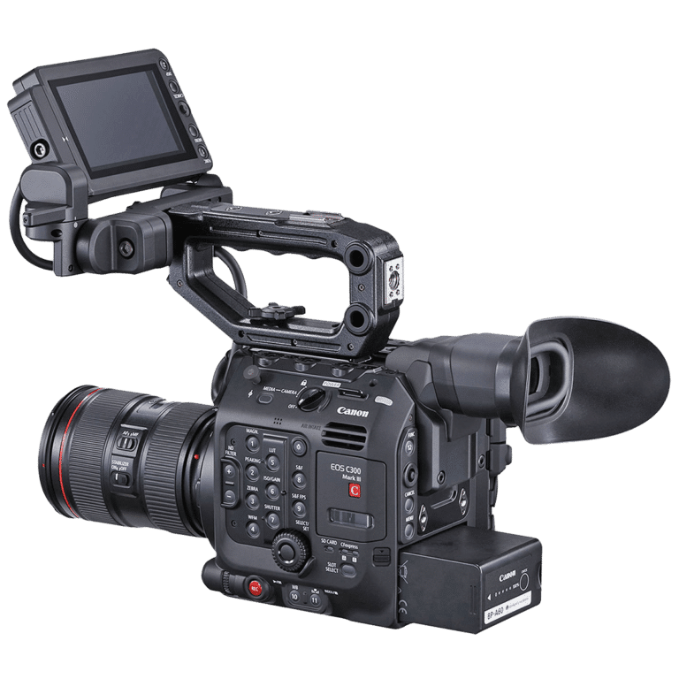 Кинокамера Canon C300 Mark III - вид слева