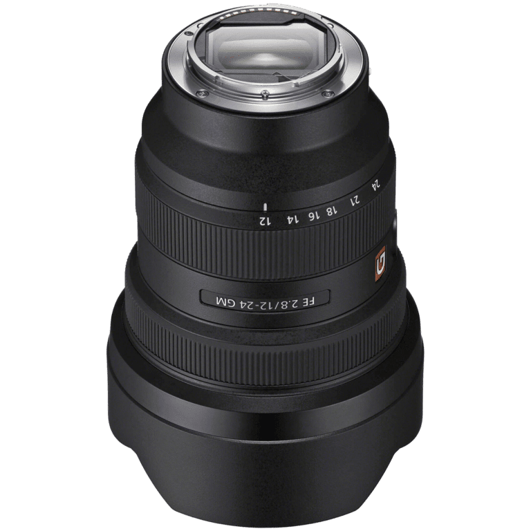 Объектив Sony FE 12-24mm f/2.8 GM - с задним фильтром png