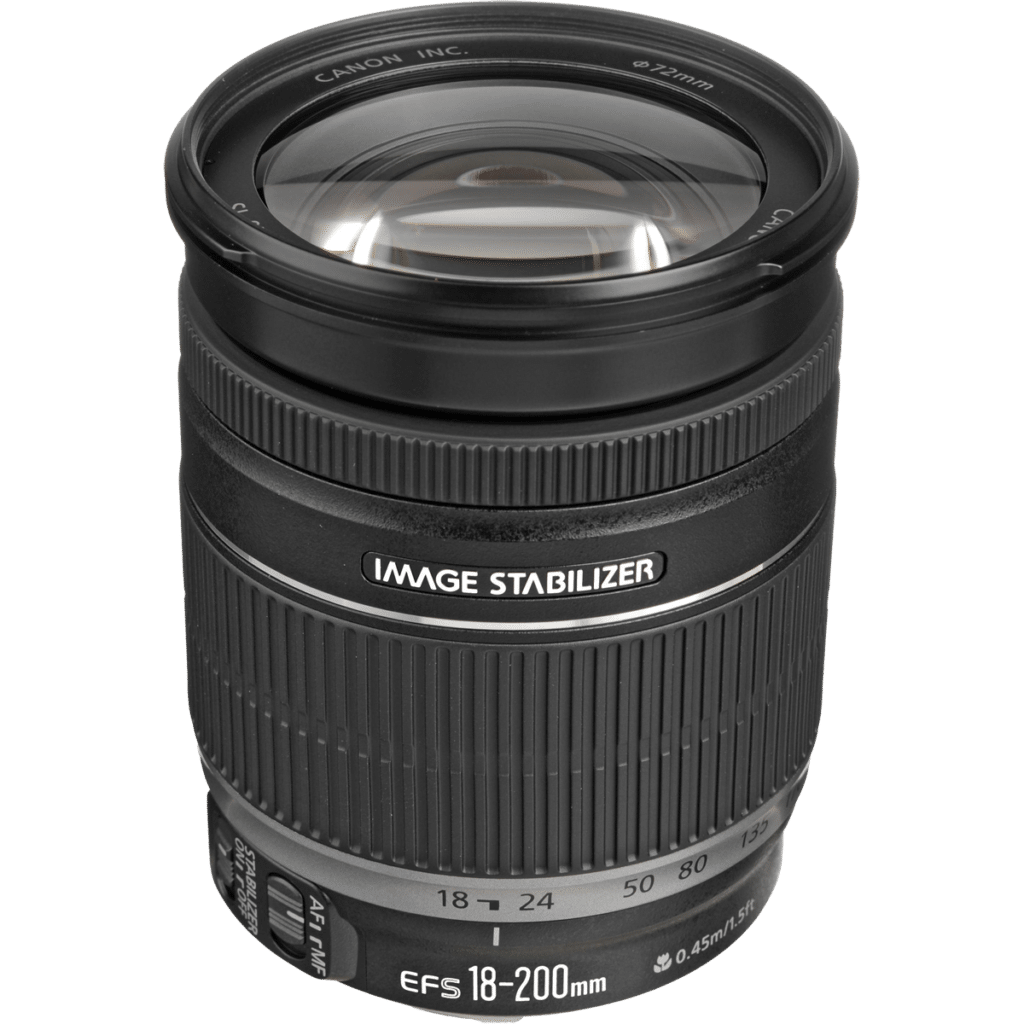 Объектив Canon EF-S 18-200mm f/3.5-5.6 IS PNG